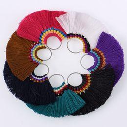 $enCountryForm.capitalKeyWord Australia - 2018 Indian Ethnic Fringe Fashion Boho Rivca Geometry Tassel Colorful Statement Earrings Drop Charm Tassel Earrings Women Jewelry