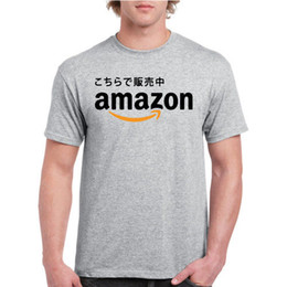 4405d6782dff New Amazon Japan Shopping Marketplace Logo T-shirt Black (Avail. In B W Tee)  Casual male tshirt men tops tees Free shipping tees
