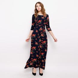 0861c57add2 5XL 6XL 2018 Новый Большой размер Халат Цветочный Принт Длинное Платье Макси  Зимние Лоскутные Вечерние Платья Плюс Размер Элегантное Женское Платье