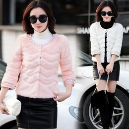 $enCountryForm.capitalKeyWord Australia - Mink Coats Women 2018 Winter New Pink Faux Fur Coat Elegant Thick Warm Short Outerwear Fake Fur Jacket