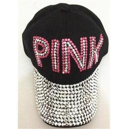 e13e1c2252 Las más nuevas mujeres amor rosa carta sombreros taladro Diamond Point  Cowboy Diamond gorras de béisbol casuales hip hop sol sombreros para niños  niñas