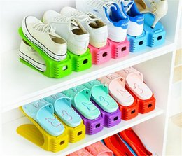 clothes japan 2019 - New Home Durable Plastic Shoe Organizer Detached Double-Wide Shoe Storage Rack Modern Double Cleaning Storage Shoes Rack