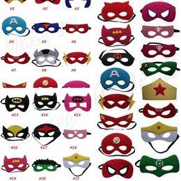 Hot 35 styles Superhero Enfants Bande Dessinée Des Yeux Masques Halloween masque De Noël Captain America Wolverine Costumes De Fête masque pour Enfants GC84