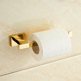 Paper Roll Holders Australia - Gold Toilet Paper Holder European Creative Vintage Tissue Roll Holder Solid Brass Bathroom Accessories Products
