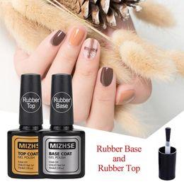 Bond Coating Australia - MIZHSE 2pcs Rubber Base Top Coat For Nails Nail Design Manicure Gel Nail Polish Primer For Nails Under Gel-Lacquer Bonded Shilak