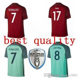 16 17 Best quality Soccer jersey Portugales 2016 2017 RONALDO NANI QUARESMA  Portugaling PEPE GUERREIRO Euro Cup Football Shirts 94a037b0b
