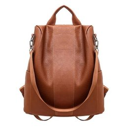 8eb800574beb 2018 New Trendy Women leather backpack College Preppy School bag for  student laptop girls Ladies daily back pack shop trip
