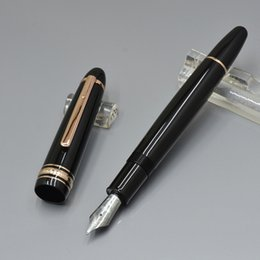 Writing Pens Australia - Luxury Meistersteks 149 Black resin classical Fountain pen business office supplies Monte brand writing ink pens with Germany number on clip