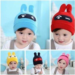 3874cab81fa korean style infant warm hat crochet cartoon beanies kids toddler warmer hat  boys girls rabbit ear hats baby autumn winter cap