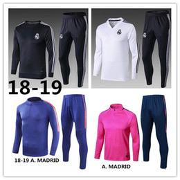 training sweatshirt Canada - Madrid soccer Tracksuit 2018 2019 GRIEZMANN Lucas Costa BALE MARCELO ASENSIO del Chandal Football jacket soccer training suit sweatshirt
