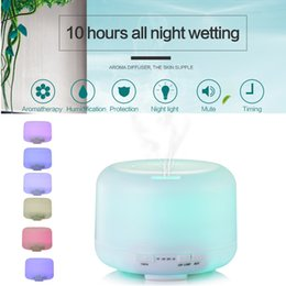 China 500ML 7 LEDs Humidifier Ultrasonic Air Aroma Essential Oil Diffuser Aromatherapy Atomizer LED Night Light Air Purifier Mist Timing 2 Level suppliers