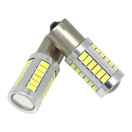 US 10X LED Car Yellow Bulb BA15S P21W 1156 Backup Reverse Light 33-SMD 5630 5730