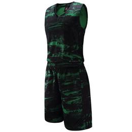 $enCountryForm.capitalKeyWord NZ - New Style Men's Basketball Jersey Suits Camouflage Printed Design Sleeveless Shirts Shorts Professional Basketball Sets 1612
