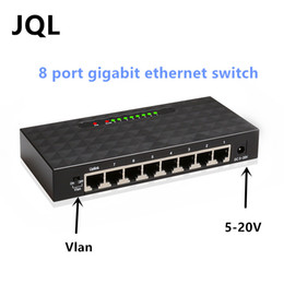 8 ports Gigabit 10 100 1000M fast ethernet switch Vlan switch on Sale