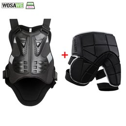 Motorcycle Jacket Armor Protector Australia - WOSAWE Motorcycle Jacket Body Protector+Shorts Pants Motocross Racing Body Armor Moto Protective Gear Skateboard Safety Guard