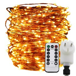 remote&timer dimable led string light 300-1000 leds starry lights,30m-100m  copper wire christmas fairy rope lights+eu uk adapter