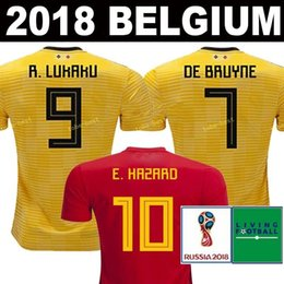 2018 2019 world cup Belgium top thai quality Soccer Jersey 18 19 LUKAKU  FELLAINI E.HAZARD KOMPANY DE BRUYNE football uniforms jerseys shirt 34e3d5c08