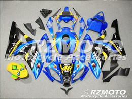 yamaha r6 plastics abs Canada - Injection mold New Fairings For Yamaha YZF-R6 YZF600 R6 08 15 R6 2008-2015 ABS Plastic Bodywork Motorcycle Fairing Kit Blue black d1