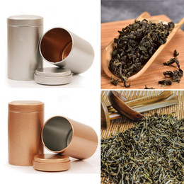 Eco Metal Storage Boxes NZ - 1 Pcs Small Cylinder Beautiful Metal Box Tin Box Storage Tank Square Sealed Coffee Tin Container 65*45MM 7A1534