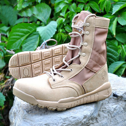High Quality Cheap Ultra Lightweight Tactical Boots Desert Combat Outdoor Army Hiking Travel Botas Shoes Leather Autumn Ankle Boots on Sale