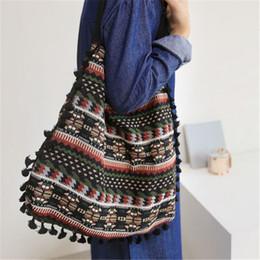 $enCountryForm.capitalKeyWord NZ - Tassel Fringe Women Vintage Shoulder Bag Gypsy Bohemian Ethnic Retro Knitting Woven Femanine Handbag Folk Boho Shopping Bag Tote