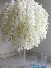 $enCountryForm.capitalKeyWord NZ - DIY Artificial White Wisteria Silk Flower For Home Party Wedding Garden Floral Decoration Living Room Valentine Day Centerpieces Table Decor