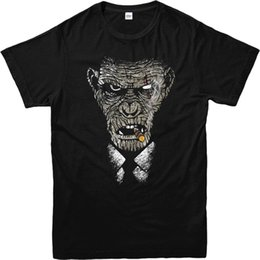 Discount t shirt design face - Rise of The Planet of Apes T-Shirt, KOBA CIGAR Face T Shirt Inspired Design Top Cheap Sale 100 % Cotton Top Tee Plus Siz