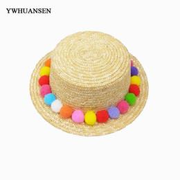 $enCountryForm.capitalKeyWord UK - Korean version summer new color hair ball bear straw hat Lady traveling on the beach Sun Hats Holiday flat top caps