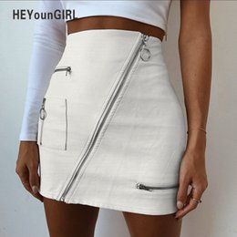 d3d58ea08b Vintage leather mini skirt online shopping - HEYounGIRL PU High Waist Faux Leather  Skirts Elegant Vintage