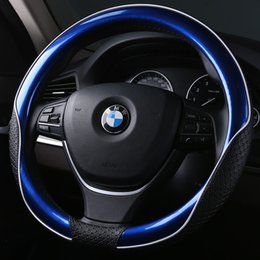 toyota corolla steering wheel Australia - Men Women Leather Car Steering Wheel Cover Anti-slip Auto Steering Cover Case for Toyota Corolla Honda Hyundai BMW Ford Mazda
