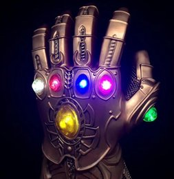 $enCountryForm.capitalKeyWord Australia - LED Light Thanos Infinity Gauntlet Avengers Infinity War Cosplay LED Gloves PVC Action Figure Model Toys Gift Halloween Props
