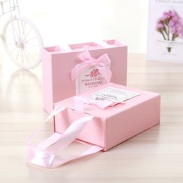 $enCountryForm.capitalKeyWord NZ - 2019 New High-end Wedding Favors Box Drawer Candy Boxes Paper Gift Bag Baby Shower Decorations Home Party Birthday Supplies