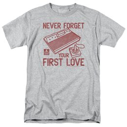 Wholesale Atari Never Forget Your FIRST LOVE Licensed Adult T Shirt All Sizes Funny Unisex Casual tee gift