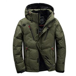 95ea4351c4 New winter jacket outdoor hiking men s Multiple pockets ski jacket  thickening hooded fur collar white duck down Parkas