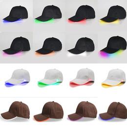 dancing christmas hats 2018 - LED Lighted Baseball Cap Glow Club Baseball  Hip-Hop Golf 7749e556ab5