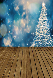 light painting photography NZ - Laeacco Pine Tree Shape Light Bokeh Wooden Floor Baby Photography Backgrounds Customized Photographic Backdrops For Photo Studio