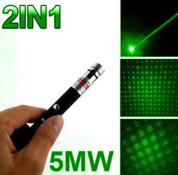 green laser pointer pattern 2019 - 2 in 1 Star Cap Pattern 532nm 5mw Green Laser Pointer Pen with star head laser kaleidoscope light Christmas Gift DHL FED