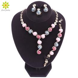 Imitation Pearl Jewelry Sets Australia - whole saleNew Fashion Gold Color Bridal Necklace & Earrings Imitation Pearl Jewelry Set Brides Wedding Jewellery Party Costume Accessories
