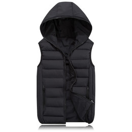Wholesale waistcoat jackets for men resale online - Thick Warm Autumn Men Hooded Vests Women Waistcoats Warm Mens Jackets Winter Sleeveless Coats Mens Clothing Quality For Male