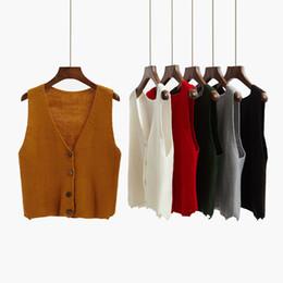 $enCountryForm.capitalKeyWord UK - 2018 autumn cardigan short design sweater vest outerwear loose sleeveless sweater vest thin female spring and autumn