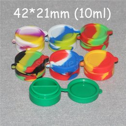 Silicone Toys Australia - Silicone Dab Containers Diameter=42mm 10ml Silicone Jars One-piece Silicone Wax Oil Container Mix Color Available High Quality