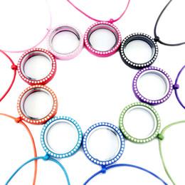 Großhandel Kristall Schwimm Medaillon Halskette DIY Runde Glasrahmen Kreis medaillon charme Halsketten mode DIY schmuck Werden und Sandy Drop Ship 160292