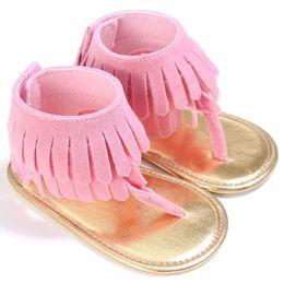 $enCountryForm.capitalKeyWord Australia - Stylish Cute Infant Girls Summer Sandals casual tassels Toddler Baby Princess Soft Sole Shoes one pairs