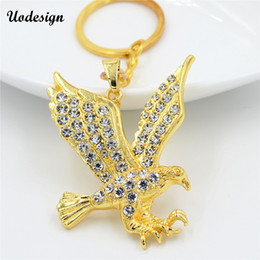 $enCountryForm.capitalKeyWord Australia - Uodesign Mens Necklaces Gold Carstal Flying Eagle Pendant Choker Male HipHop Fashion Animal Jewelry Accessories