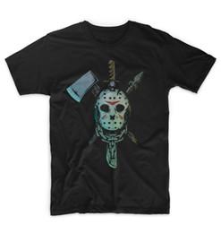 Shirt Killers NZ - Jason Mask T Shirt Halloween Horror Friday The 13th Killer Freddy Krueger Short Sleeve Tops top tee Tops O-Neck Shirts