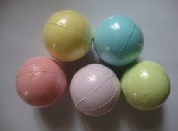 SaltS for bath online shopping - 60g Random Color Natural Bubble Bath Bomb Ball Essential Oil Handmade SPA Bath Salts Ball Fizzy Christmas Gift for Her