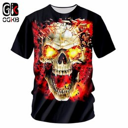 $enCountryForm.capitalKeyWord NZ - OGKB Summer Tops Women men's Funny Print Broken Skull 3D T-shirt Casual Tshirt Couple Hiphop Punk O Neck Tee Shirts Homme 7XL