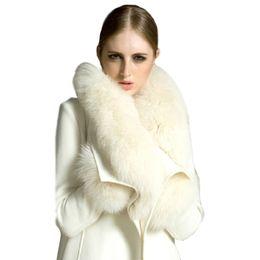 $enCountryForm.capitalKeyWord UK - Winter Long Section Fashion Fox Fur collar Women Slim Pure Color Warm white Woolen Coat Wool Coat Cashmere WC013