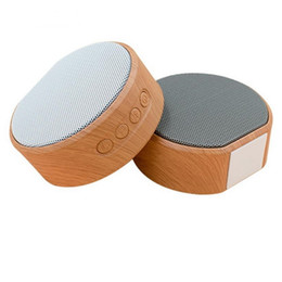 Portable wooden sPeakers online shopping - A60 Wooden Bluetooth Speaker Handsfree MP3 Super Mini Wireless Speaker Support SD Card AUX Subwoofer Radio For Smartphone