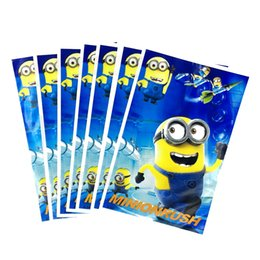 plastic recycle NZ - 100pcs lot Cute Cartoon Minion Bag Gift Boy Girl Baby Shower Kids Birthday Party Supplies Child Loot Gifts Plastic Storage Bags